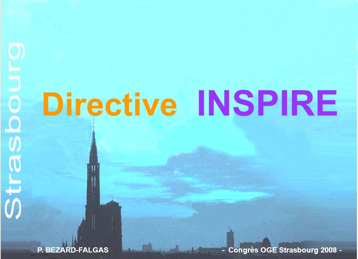 Directive INSPIRE P. BEZARD-FALGAS - Congrès OGE Strasbourg 2008 -