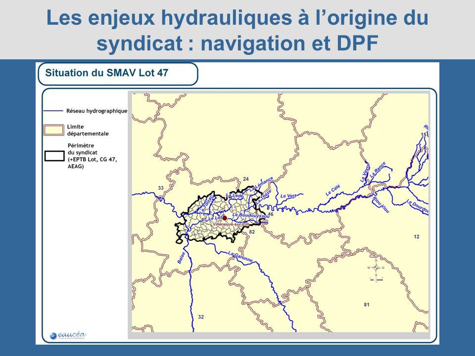 Les enjeux hydrauliques à lorigine du syndicat : navigation et DPF