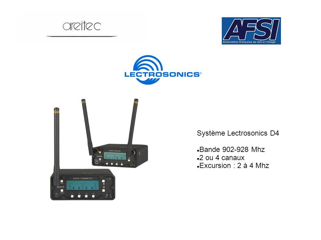 Système Lectrosonics D4 Bande 902-928 Mhz 2 ou 4 canaux Excursion : 2 à 4 Mhz
