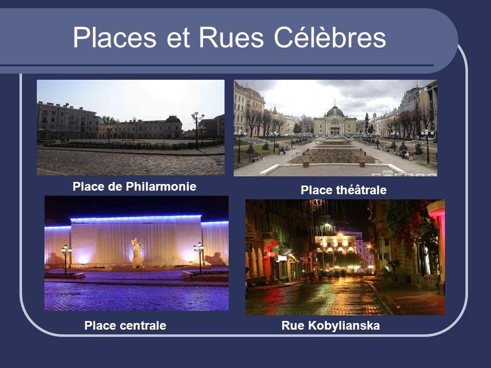Places et Rues Célèbres Place de Philarmonie Place théâtrale Place centraleRue Kobylianska