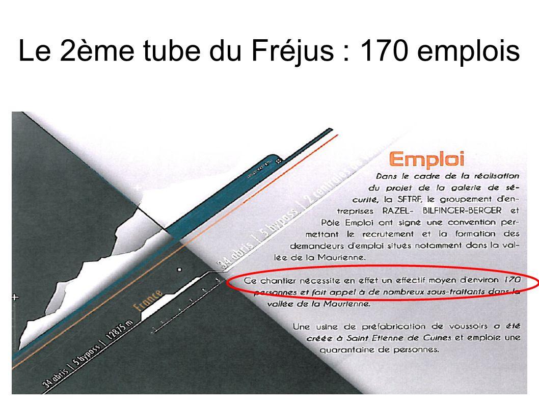 Le 2ème tube du Fréjus : 170 emplois