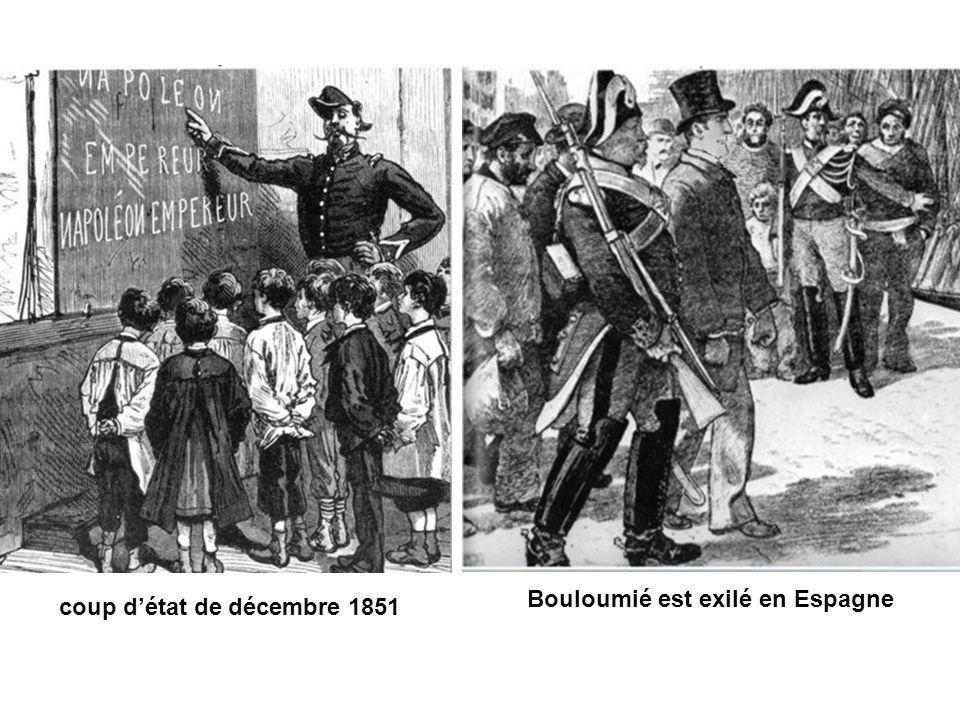 coup détat de décembre 1851 Bouloumié est exilé en Espagne