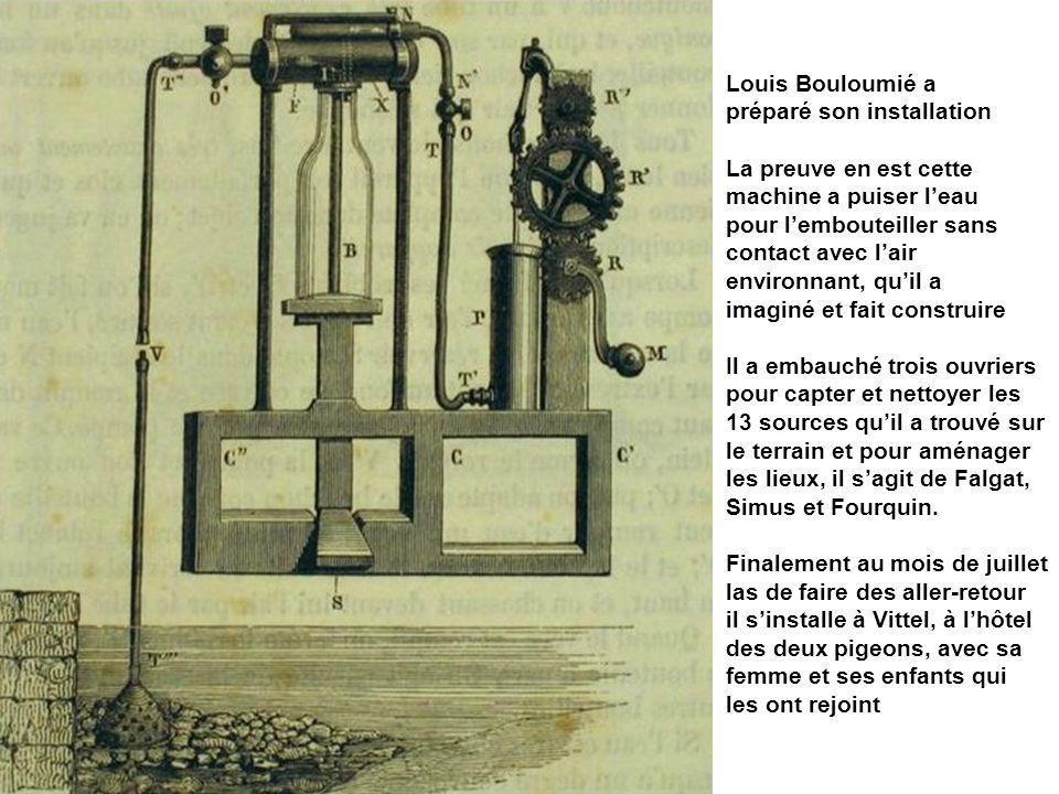 Louis Bouloumié a préparé son installation La preuve en est cette machine a puiser leau pour lembouteiller sans contact avec lair environnant, quil a