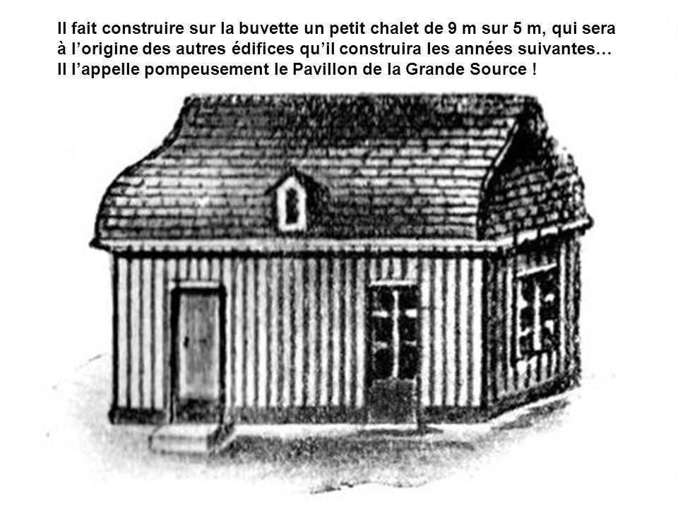 Une modeste buvette en pierre de grès est prête à recevoir des curistes dont le premier est Louis Bouloumié lui-même, qui apprécie cette eau minérale