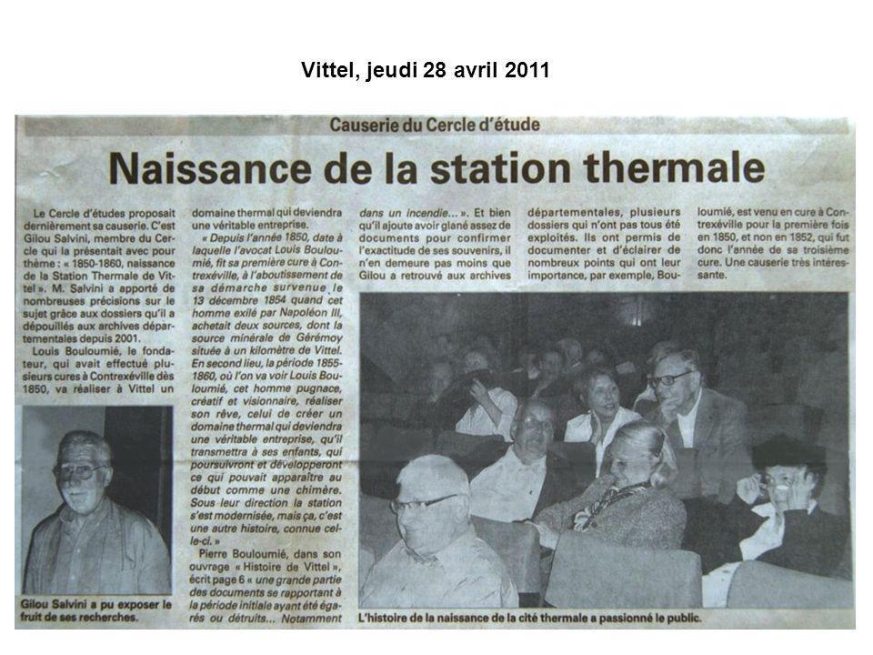 Vittel, jeudi 28 avril 2011