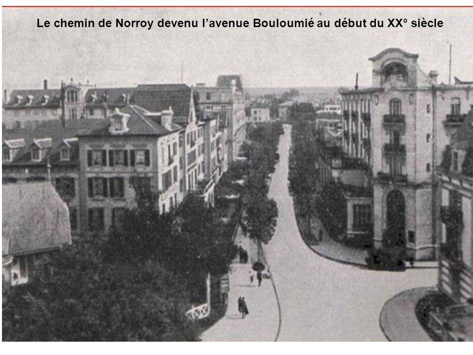 Le chemin de Norroy en 1855 Le chemin de Norroy devenu lavenue Bouloumié au début du XX° siècle