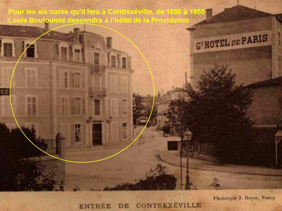 Durant les séjours quil fera à Contrexéville, Louis Bouloumié aura de pénibles déplacements à faire en calèche, depuis son domicile de Rodez, depuis c