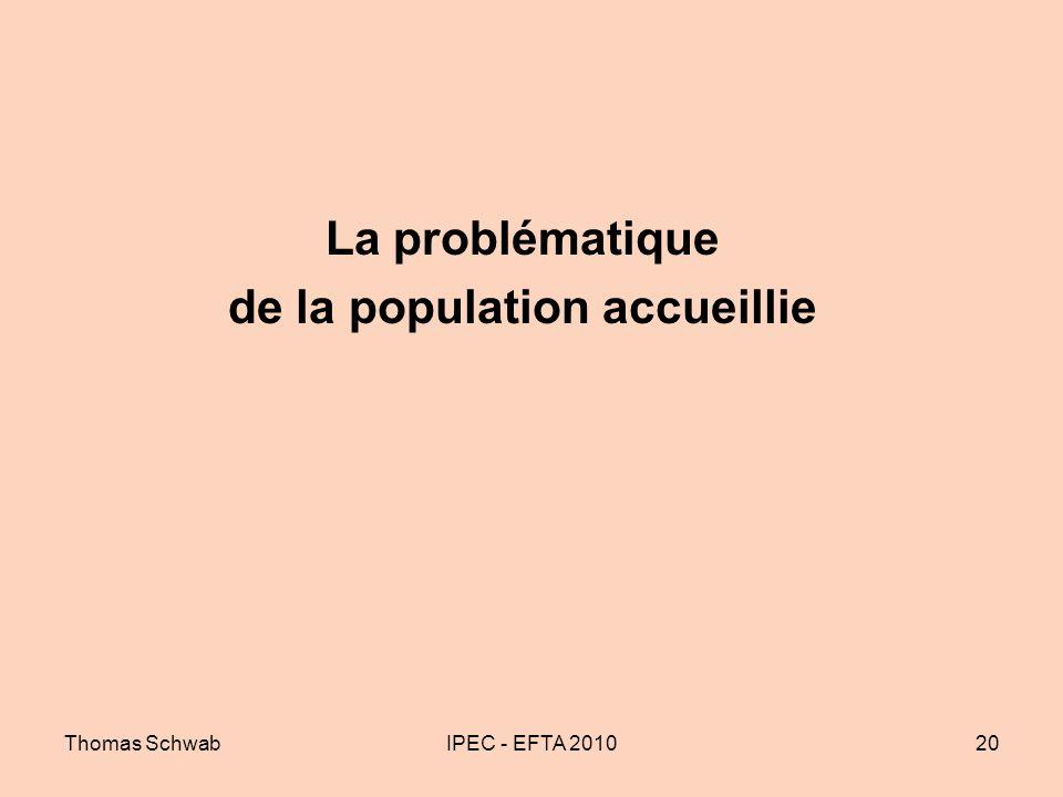 Thomas SchwabIPEC - EFTA 201020 La problématique de la population accueillie