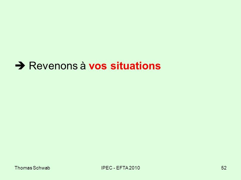Thomas SchwabIPEC - EFTA 201052 Revenons à vos situations