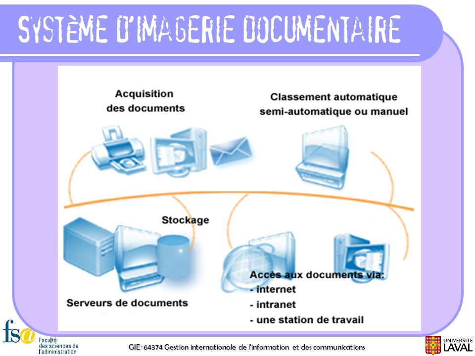 GIE-64374 Gestion internationale de l'information et des communications Système dimagerie documentaire