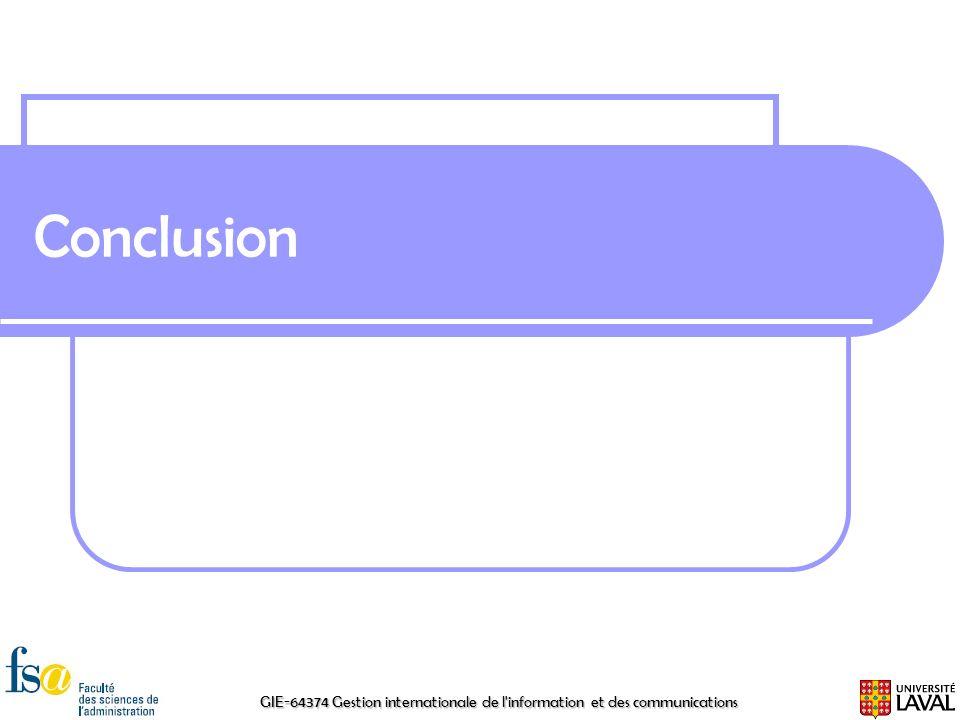 GIE-64374 Gestion internationale de l'information et des communications Conclusion