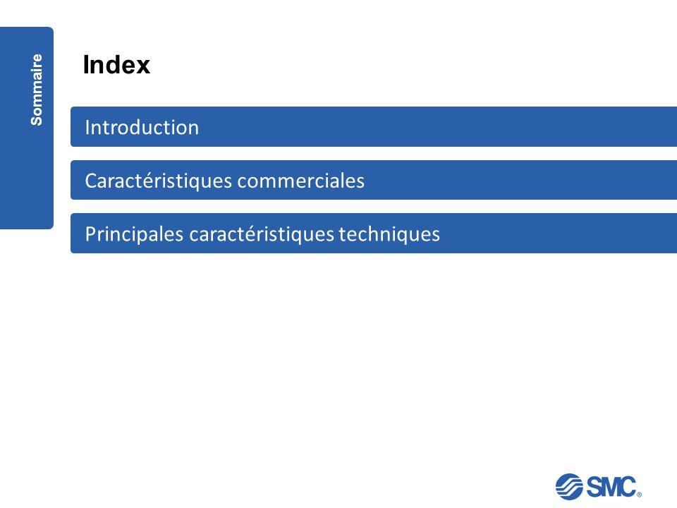 Index Sommaire Principales caractéristiques techniques Caractéristiques commerciales Introduction