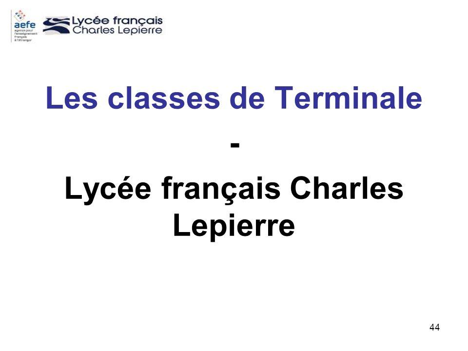 44 Les classes de Terminale - Lycée français Charles Lepierre