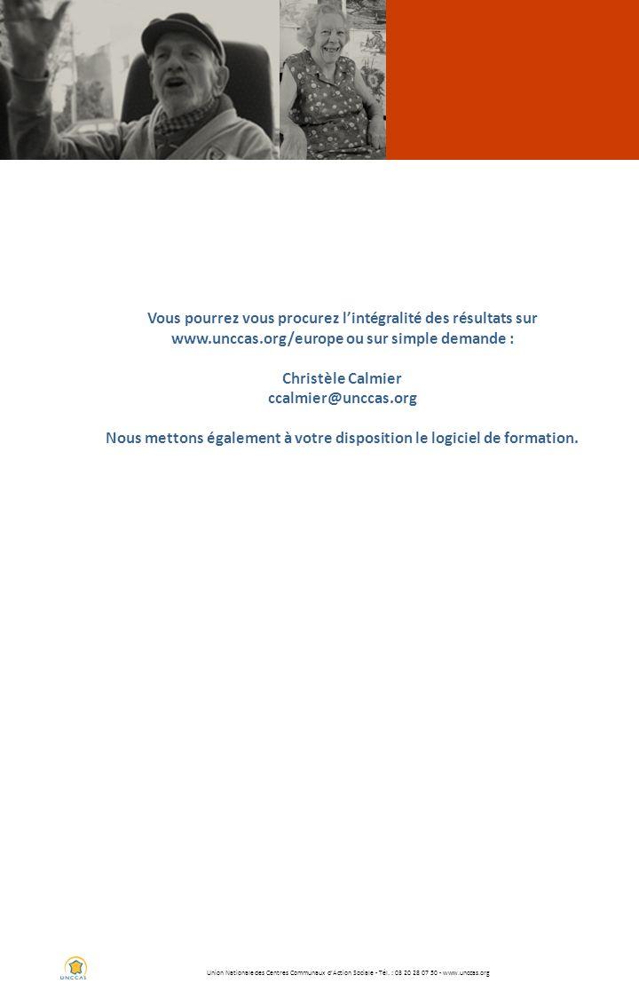 Union Nationale des Centres Communaux dAction Sociale - Tél. : 03 20 28 07 50 - www.unccas.org Vous pourrez vous procurez lintégralité des résultats s