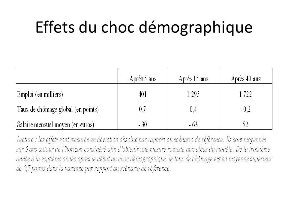 Effets du choc démographique