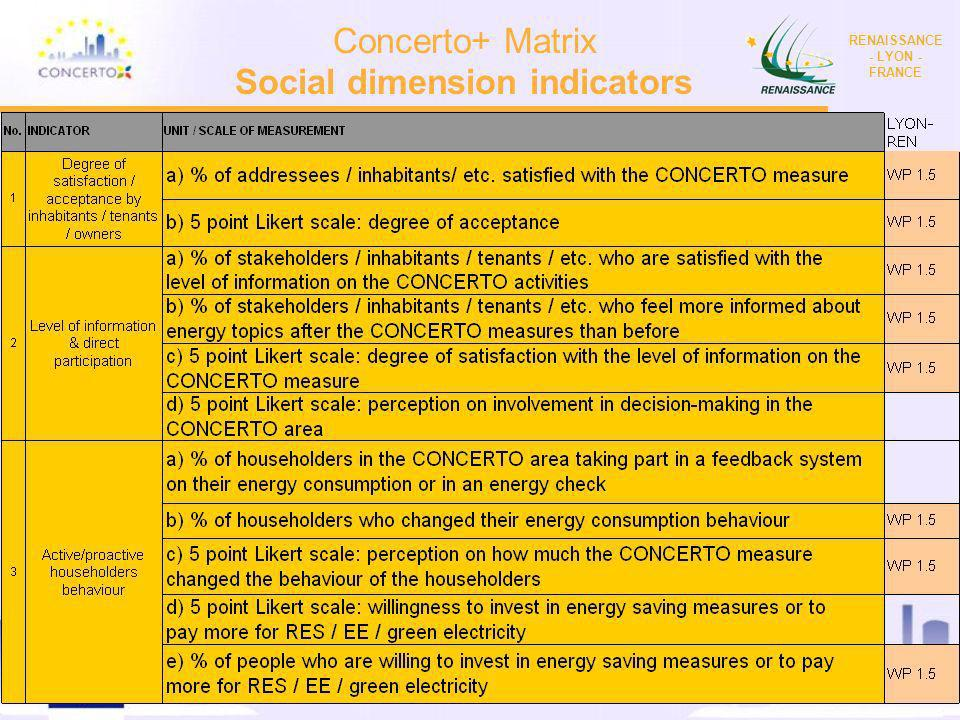 RENAISSANCE : a CONCERTO project financed by the European Commission on the six framework programme RENAISSANCE - LYON - FRANCE 9 Presentation of Conc