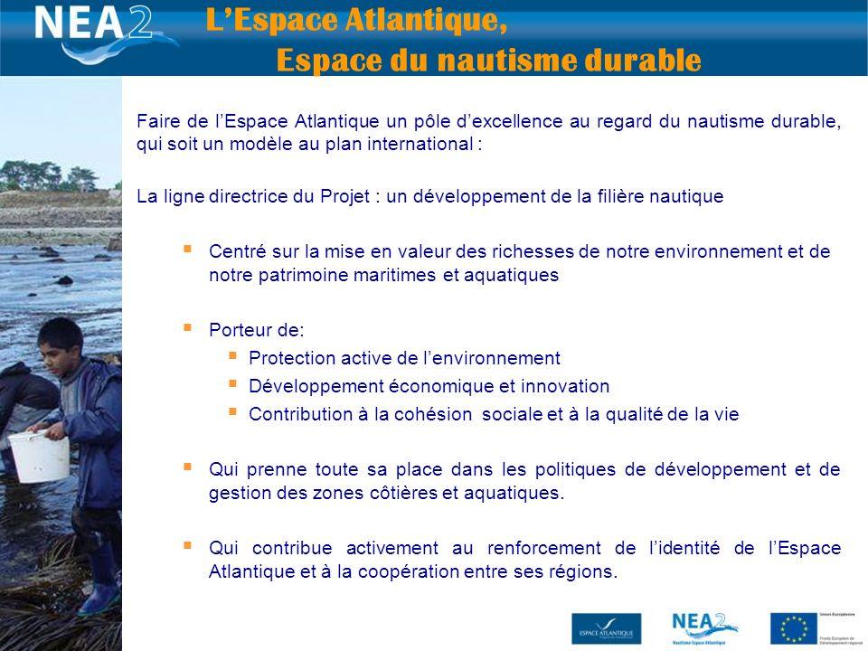 11 Faire de lEspace Atlantique un pôle dexcellence au regard du nautisme durable, qui soit un modèle au plan international : La ligne directrice du Pr
