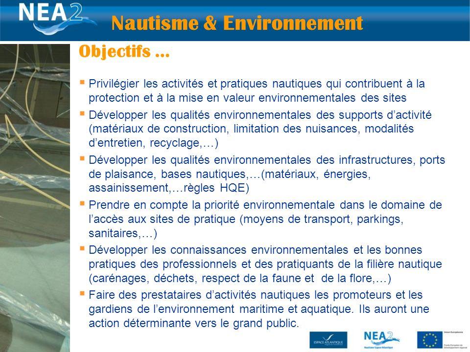 Privilégier les activités et pratiques nautiques qui contribuent à la protection et à la mise en valeur environnementales des sites Développer les qua