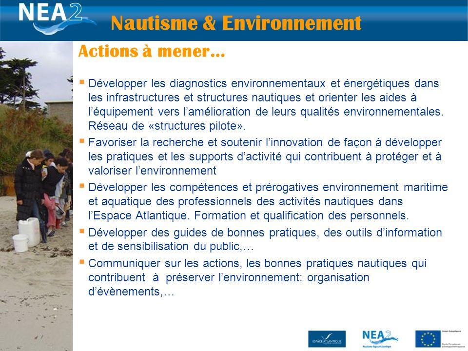 Développer les diagnostics environnementaux et énergétiques dans les infrastructures et structures nautiques et orienter les aides à léquipement vers