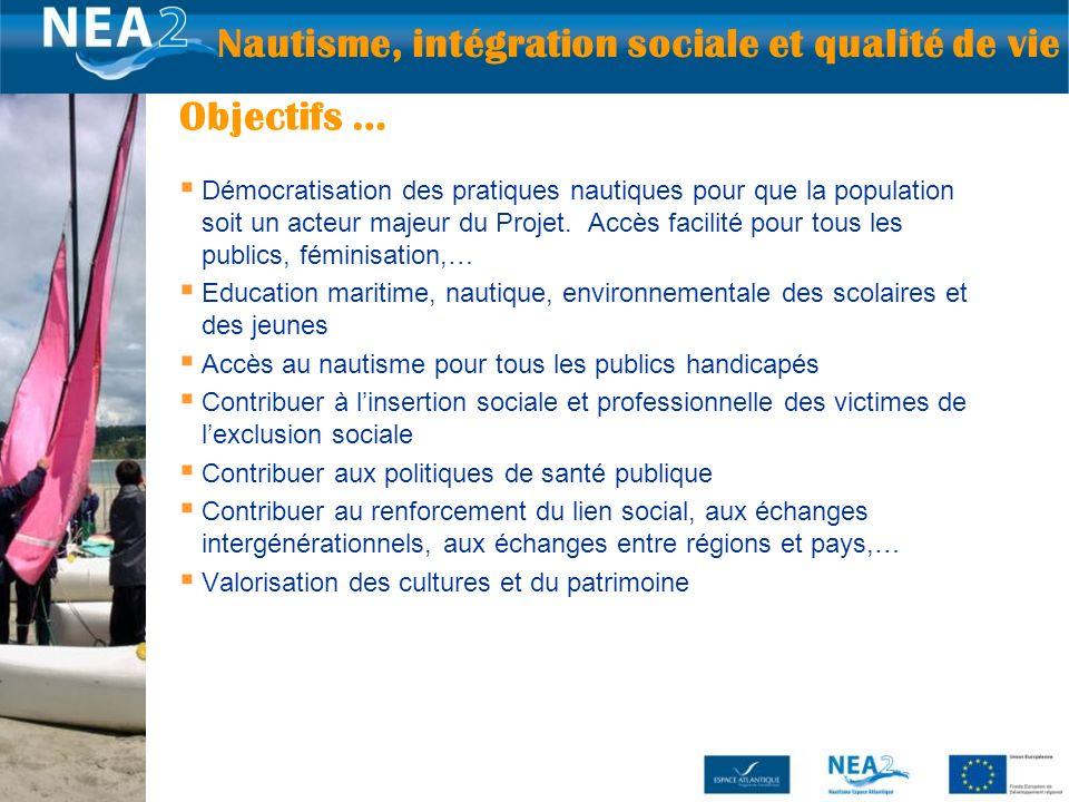 Démocratisation des pratiques nautiques pour que la population soit un acteur majeur du Projet. Accès facilité pour tous les publics, féminisation,… E