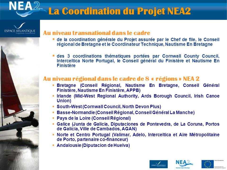 22 Au niveau transnational dans le cadre de la coordination générale du Projet assurée par le Chef de file, le Conseil régional de Bretagne et le Coor