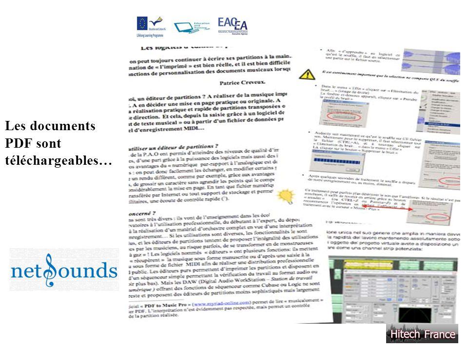 Les documents PDF sont téléchargeables…