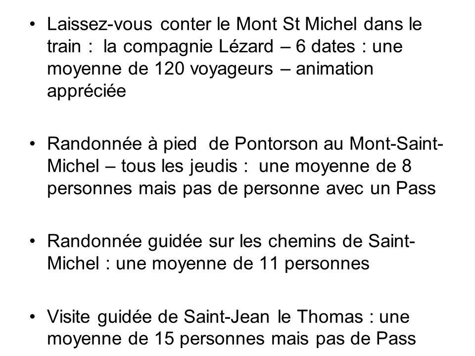 Laissez-vous conter le Mont St Michel dans le train : la compagnie Lézard – 6 dates : une moyenne de 120 voyageurs – animation appréciée Randonnée à p