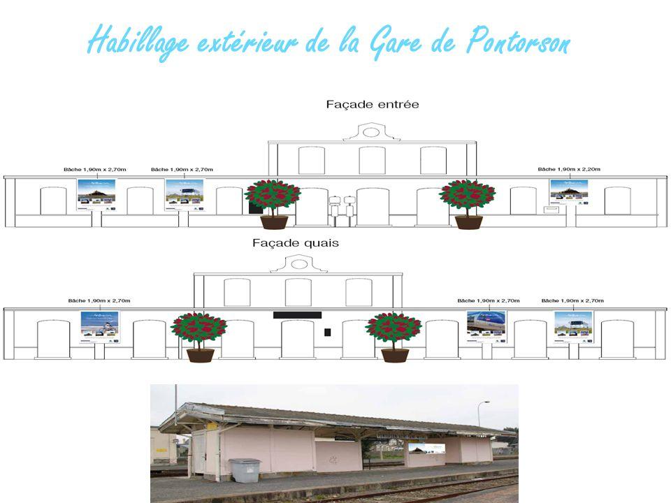 Habillage extérieur de la Gare de Pontorson