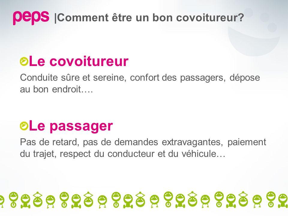 |Comment être un bon covoitureur? Le covoitureur Conduite sûre et sereine, confort des passagers, dépose au bon endroit…. Le passager Pas de retard, p