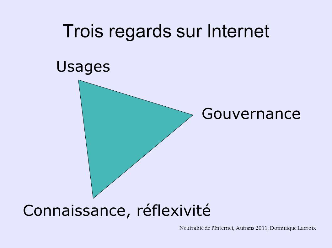 Neutralité de l'Internet, Autrans 2011, Dominique Lacroix Trois regards sur Internet Connaissance, réflexivité Usages Gouvernance