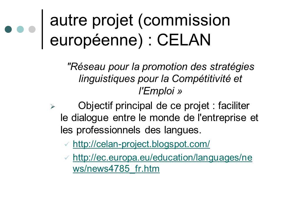 autre projet (commission européenne) : CELAN
