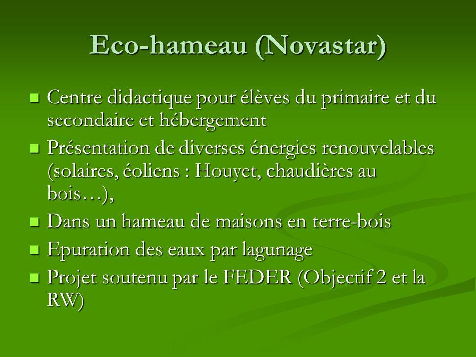 Eco-hameau (Novastar) Centre didactique pour élèves du primaire et du secondaire et hébergement Centre didactique pour élèves du primaire et du second