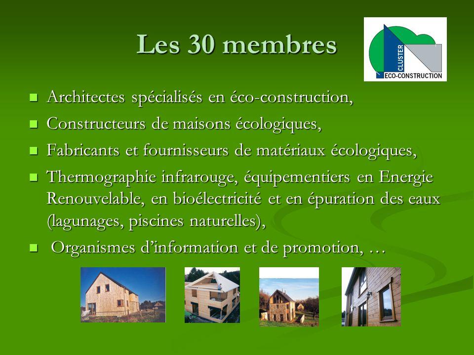 Les 30 membres Architectes spécialisés en éco-construction, Architectes spécialisés en éco-construction, Constructeurs de maisons écologiques, Constru