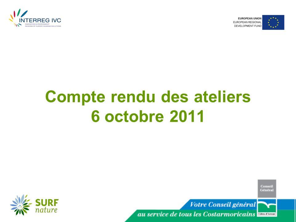 Compte rendu des ateliers 6 octobre 2011