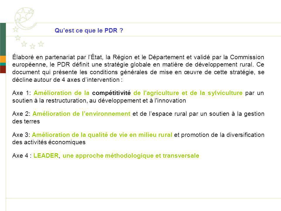 Quest ce que le PDR ? Élaboré en partenariat par lÉtat, la Région et le Département et validé par la Commission européenne, le PDR définit une stratég