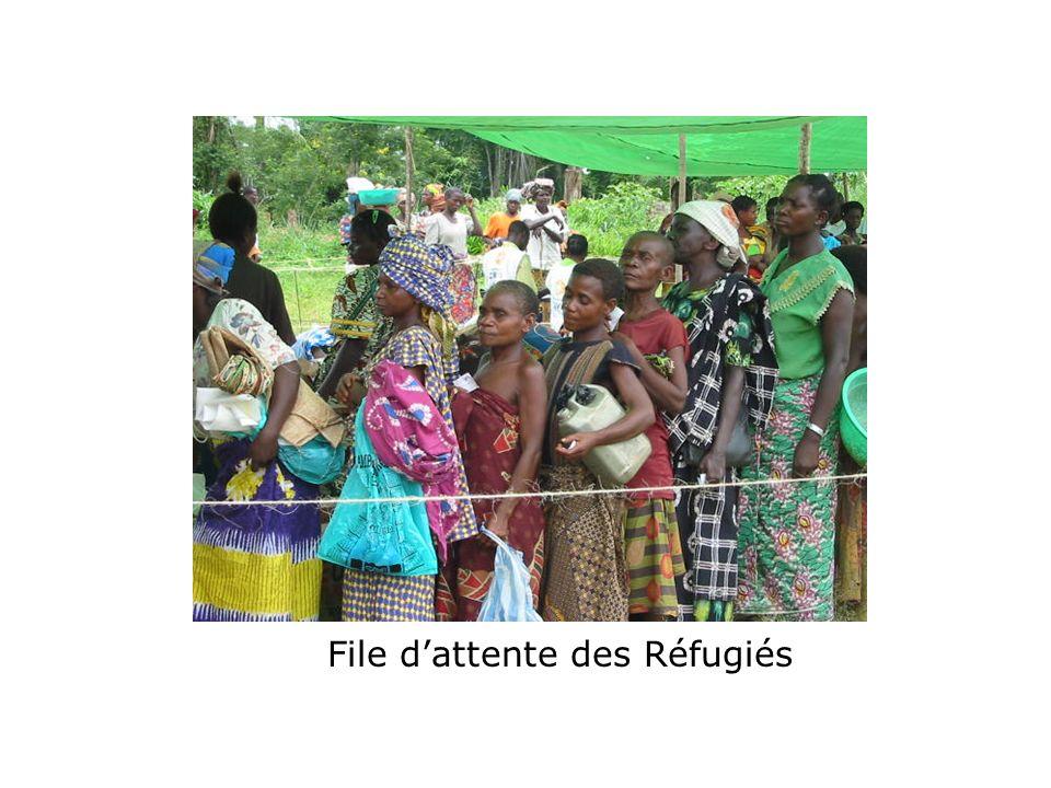File dattente des Réfugiés