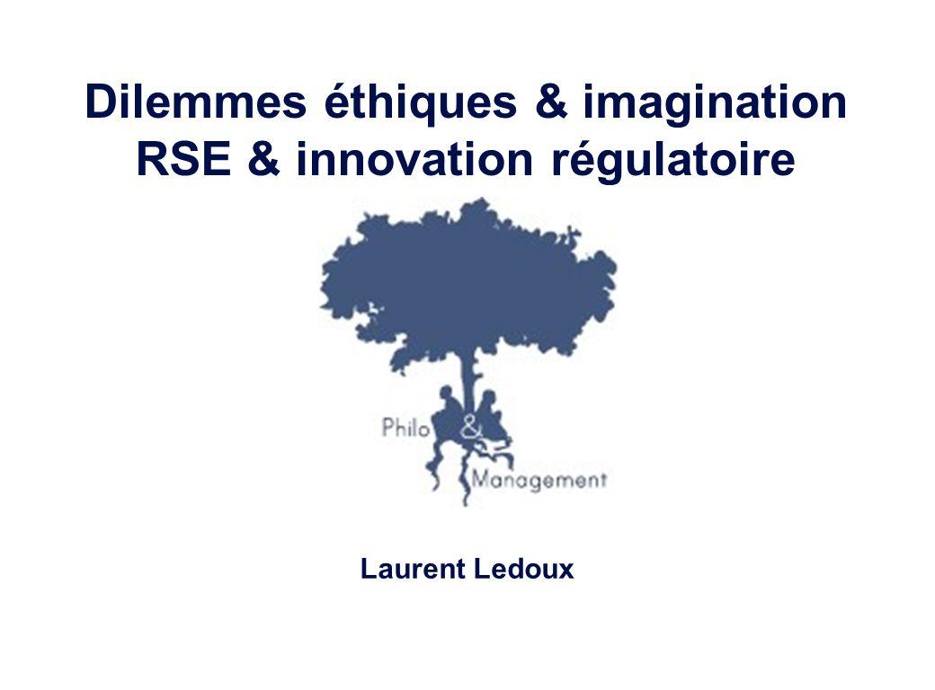Laurent Ledoux – 19/01/08 22 Dilemmes éthiques & imagination1 RSE & innovation régulatoire2 Table des matières