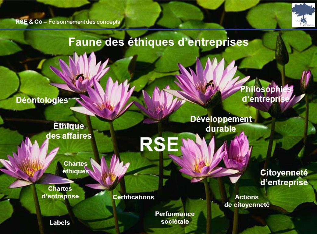 Laurent Ledoux – 19/01/08 23 RSE Ethique des affaires Faune des éthiques dentreprises Développement durable Citoyenneté dentreprise Chartes éthiques C