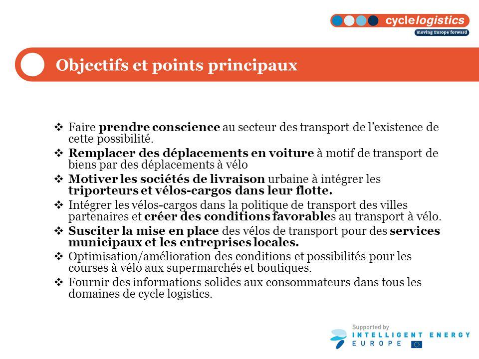 Objectifs et points principaux Faire prendre conscience au secteur des transport de lexistence de cette possibilité. Remplacer des déplacements en voi