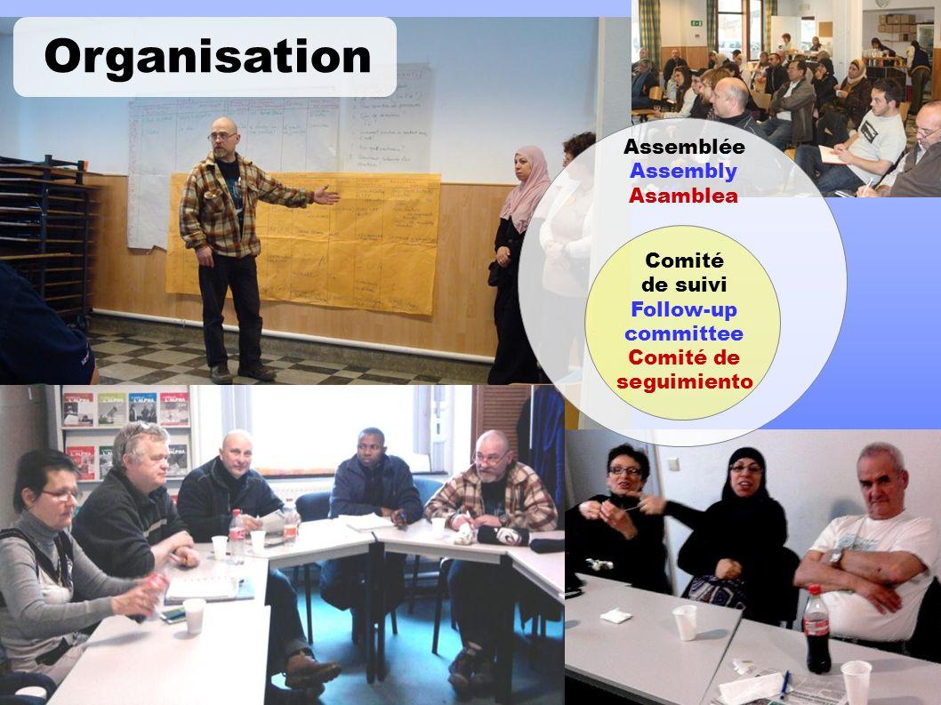 Assemblée Assembly Asamblea Comité de suivi Follow-up committee Comité de seguimiento Organisation