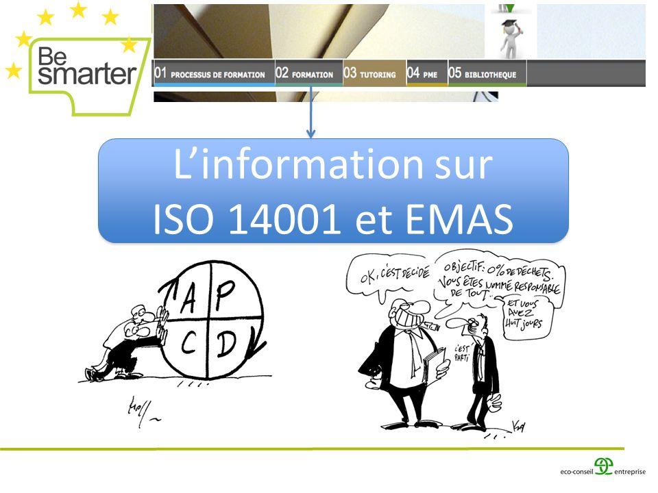 Linformation sur ISO 14001 et EMAS