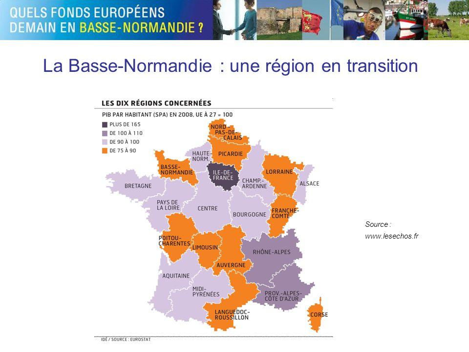La Basse-Normandie : une région en transition Source : www.lesechos.fr