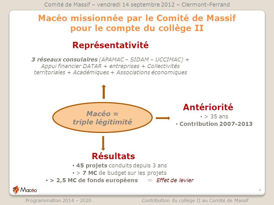 Macéo missionnée par le Comité de Massif pour le compte du collège II Représentativité 3 réseaux consulaires (APAMAC – SIDAM – UCCIMAC) + Appui financ