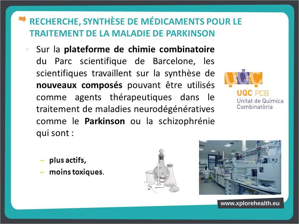 Sur la plateforme de chimie combinatoire du Parc scientifique de Barcelone, les scientifiques travaillent sur la synthèse de nouveaux composés pouvant