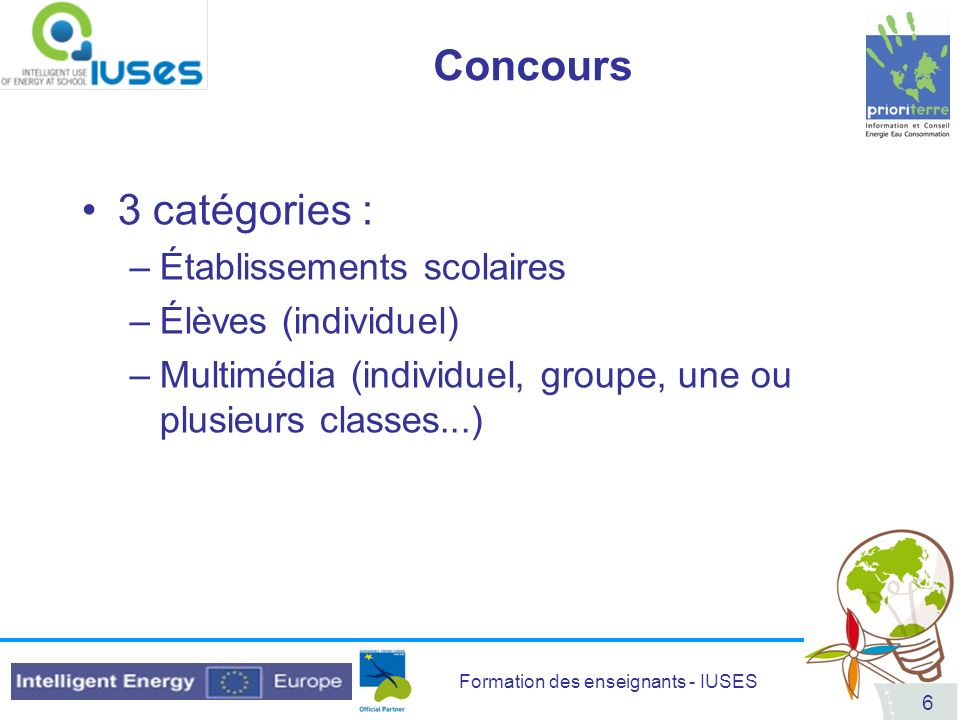 Formation des enseignants - IUSES 87 DVD