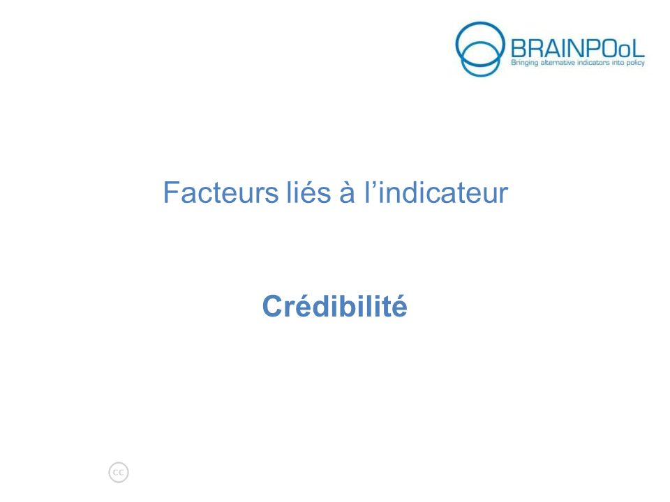 Facteurs liés à lindicateur Crédibilité aenimation