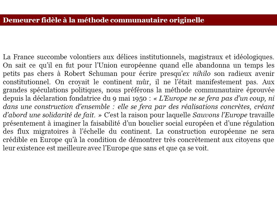 La France succombe volontiers aux délices institutionnels, magistraux et idéologiques. On sait ce quil en fut pour lUnion européenne quand elle abando