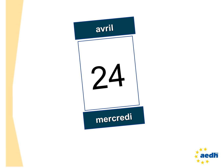 avril 24 mercredi