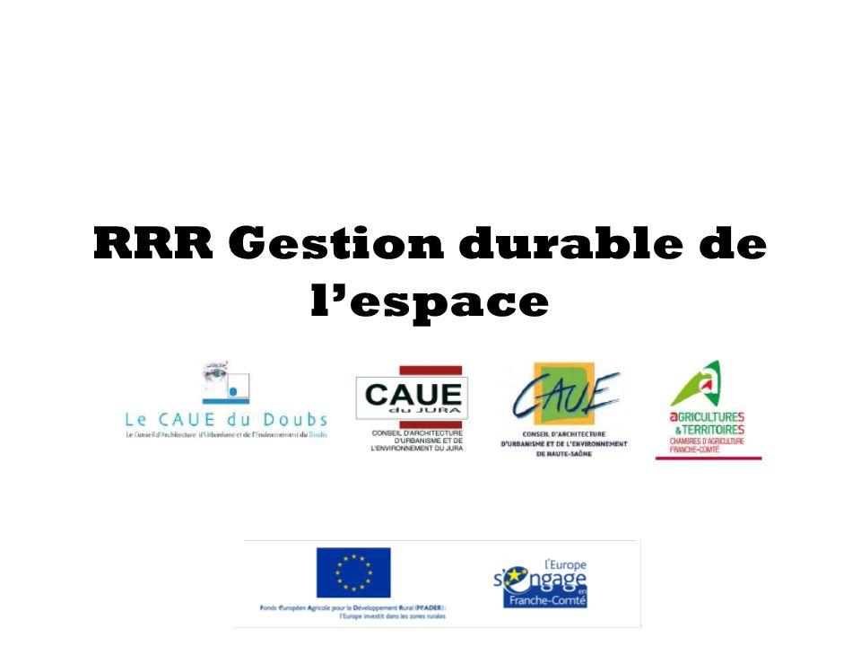 RRR Gestion durable de lespace