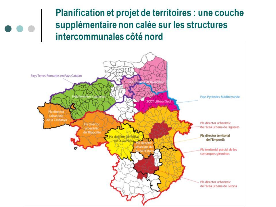 19 Planification et projet de territoires : une couche supplémentaire non calée sur les structures intercommunales côté nord